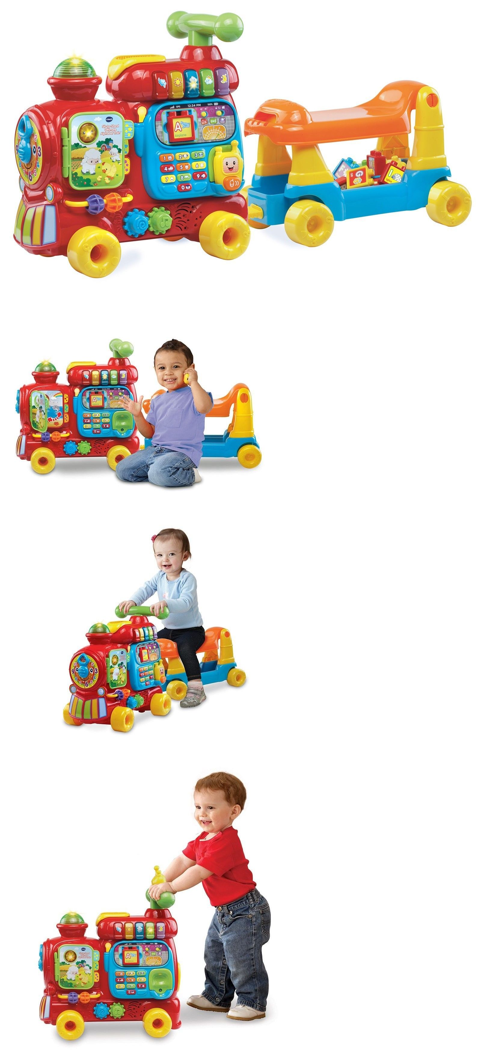 Vtech Sit To Stand Ultimate Alphabet Train Pinterest