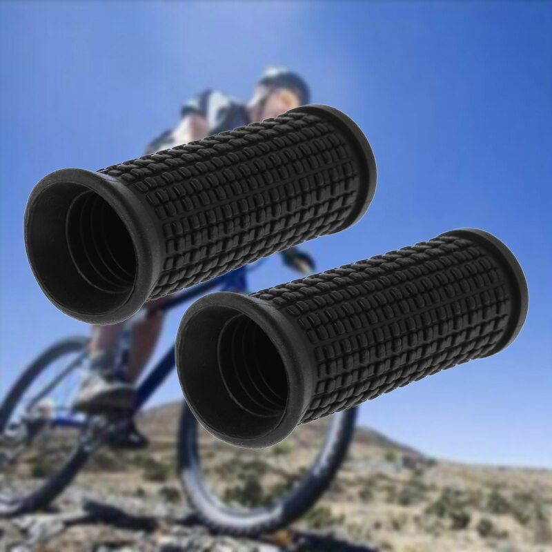 2pcs Bicycle Grips Short Handle Rubber Non Slip Scooter Cycling MTB Bike Parts