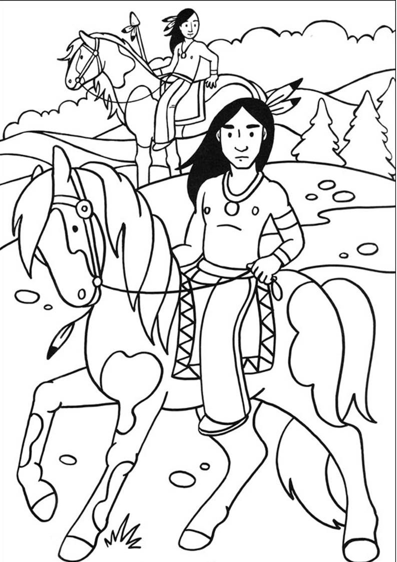 coloriage Native american crafts, Coloring pages