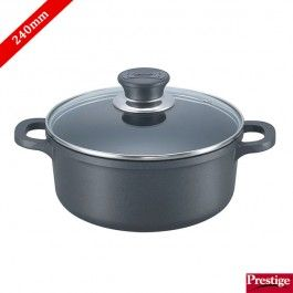 Prestige Cookware Buy Prestige Omega Die Cast Plus Non Stick Casserole 240 Mm With Lid Online Kitchen Dinning Slow Cooker Crock Pot Kitchen Collection