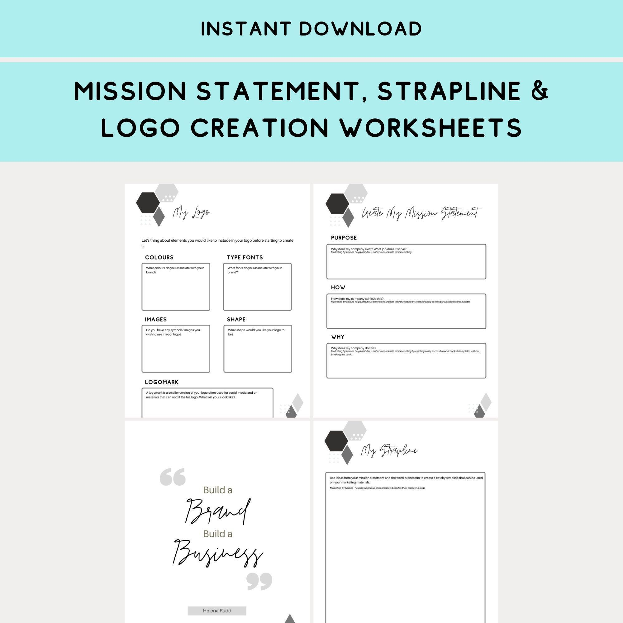 Mission Statement Strapline Amp Logo Creation Worksheets