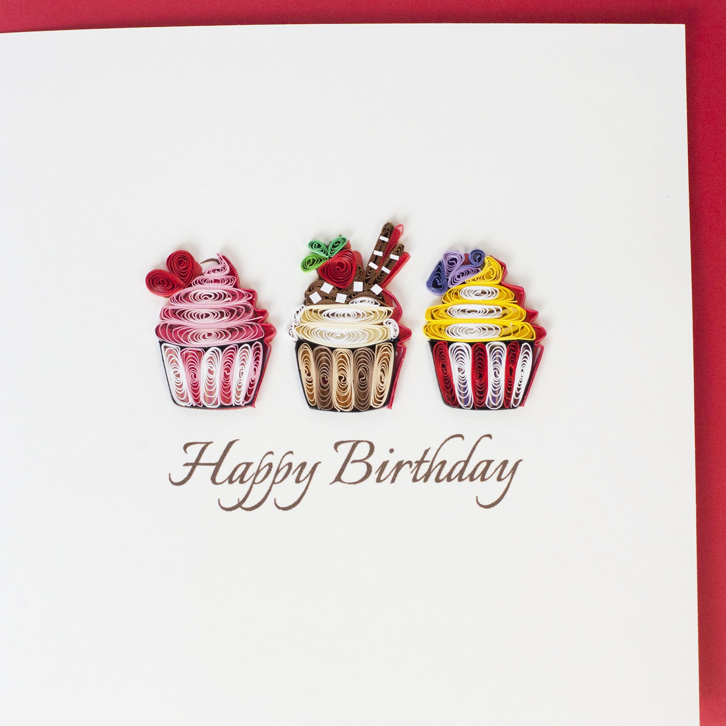 Cupcake Quilling Quilling Quilling Birthday Cards