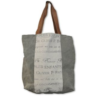 Cottage Home Recycled Leather/Canvas Helimax Shopper Tote Bag ...