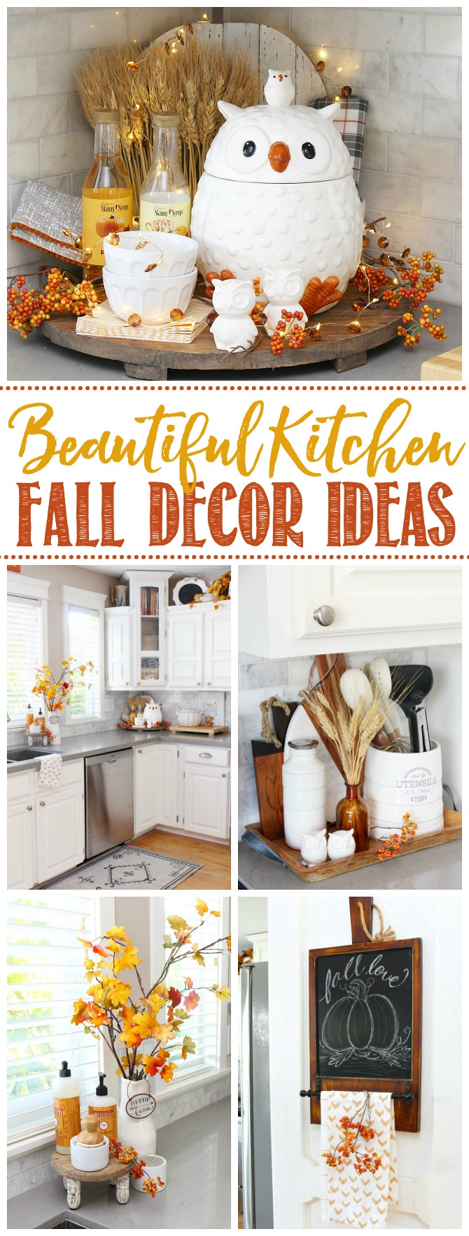 Fall Kitchen Decor Ideas   Clean and Scentsible   Fall kitchen ...