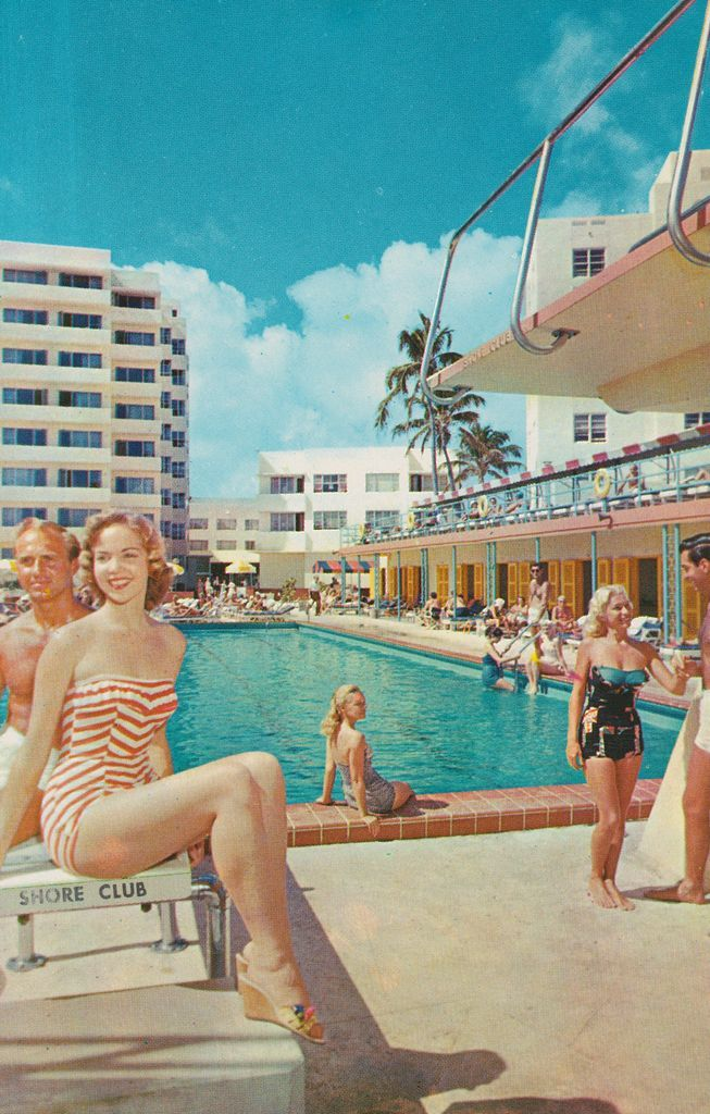 Gorgeous Vintage Miami Image Only Thing Its Missing Is A Mermaid In The Pool Vagabond
