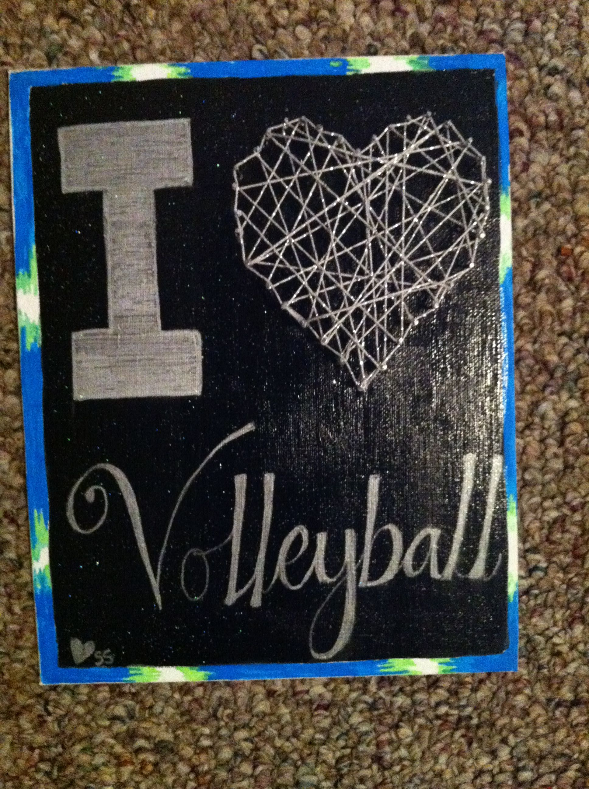 I Love Volleyball Canvas Volleyball My Love Crafty