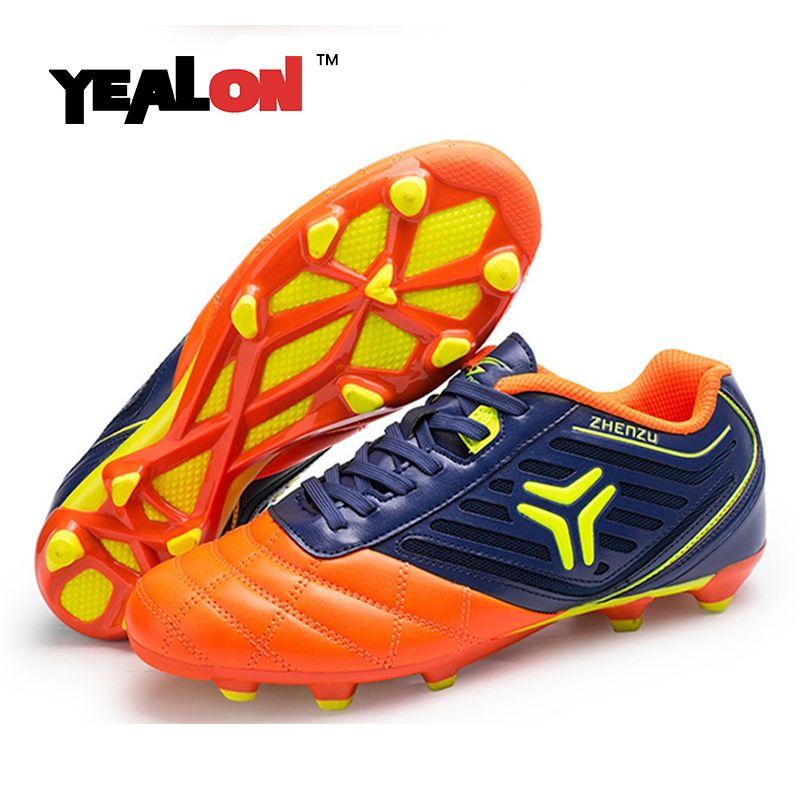 1c9cdcb23 YEALON Football Shoes Kids Sport Soccer Shoes Football Boys Shoes Cheap  Chea Botas De Futbol Con Tobillera Zapatos De Futbol