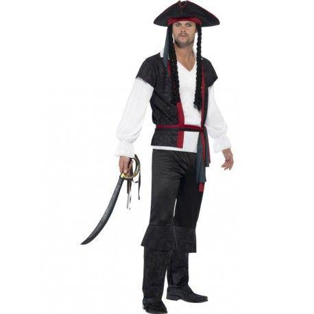 Garçons Pirate Costume Enfants Pirate Halloween Capitaine Fancy Dress Outfit Noir