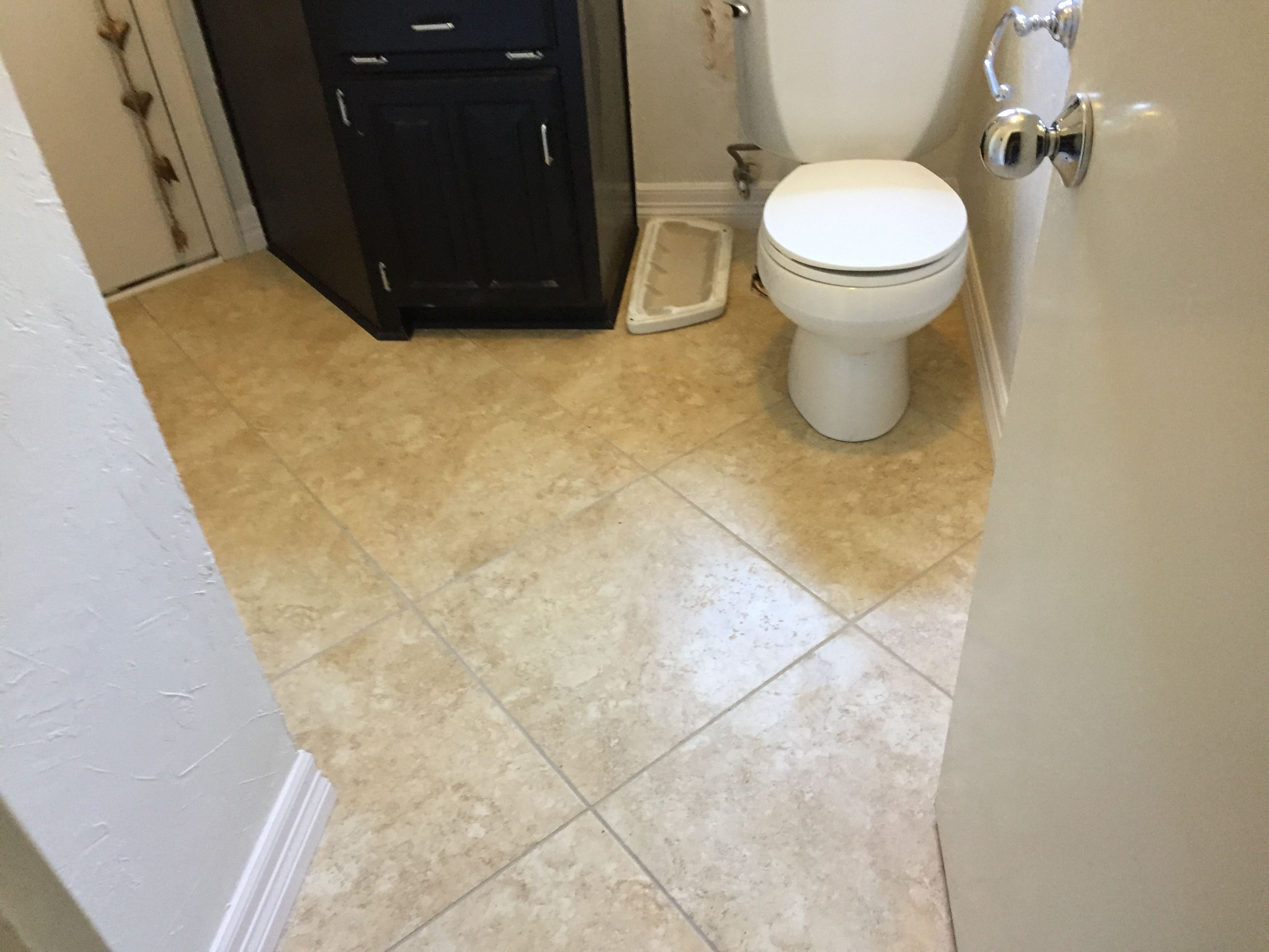 20x20 Tile In Small Bathroom Stone Flooring Small Bathroom Tiles