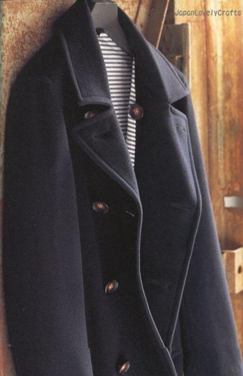 Men\'s Coat by Ryuichiro Shimazaki - Japanese Sewing Pattern Book For ...