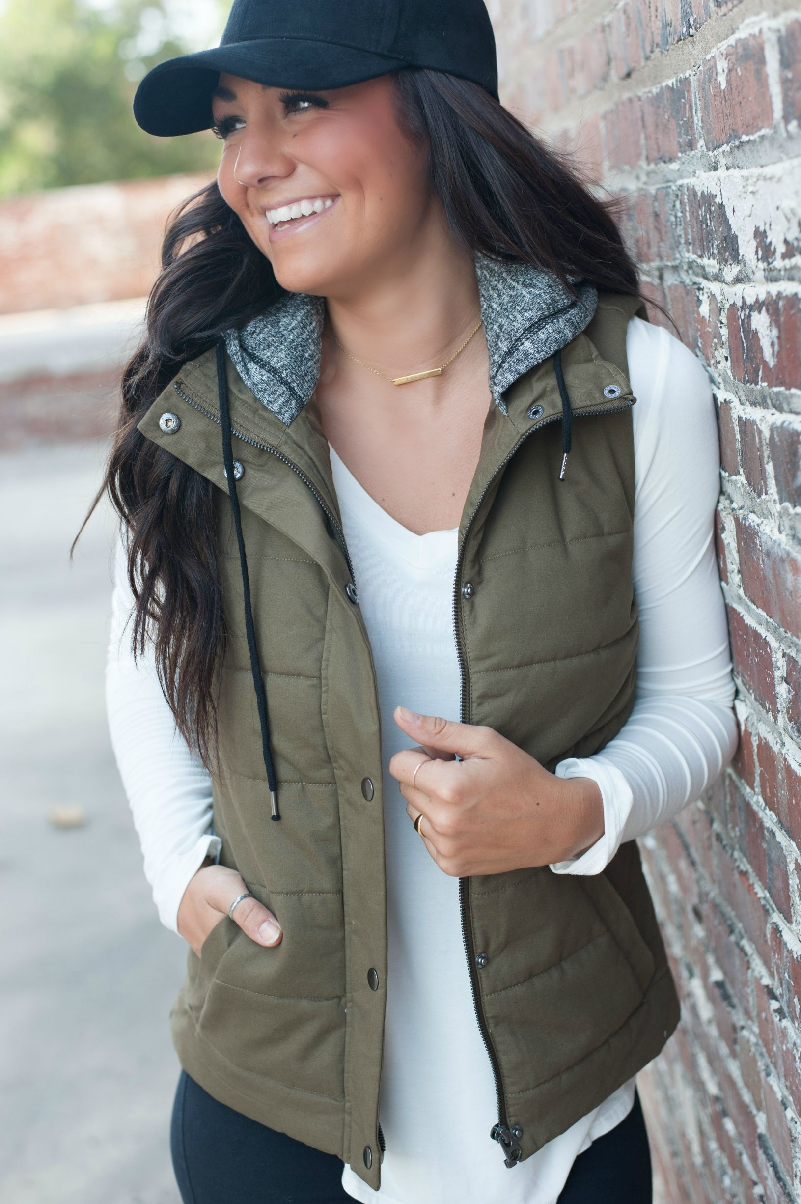 The Ashley Puffer Vest Fashion Style Fall Outfits [ 2451 x 1631 Pixel ]