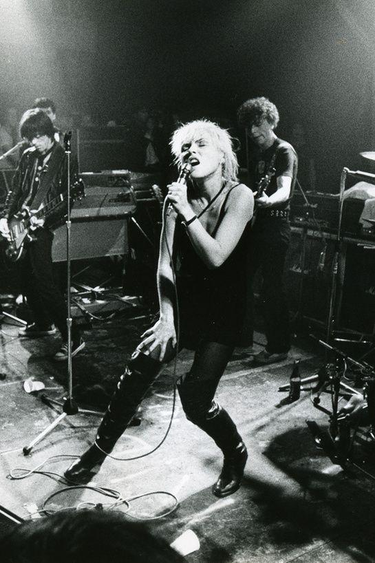 Blondie on stage