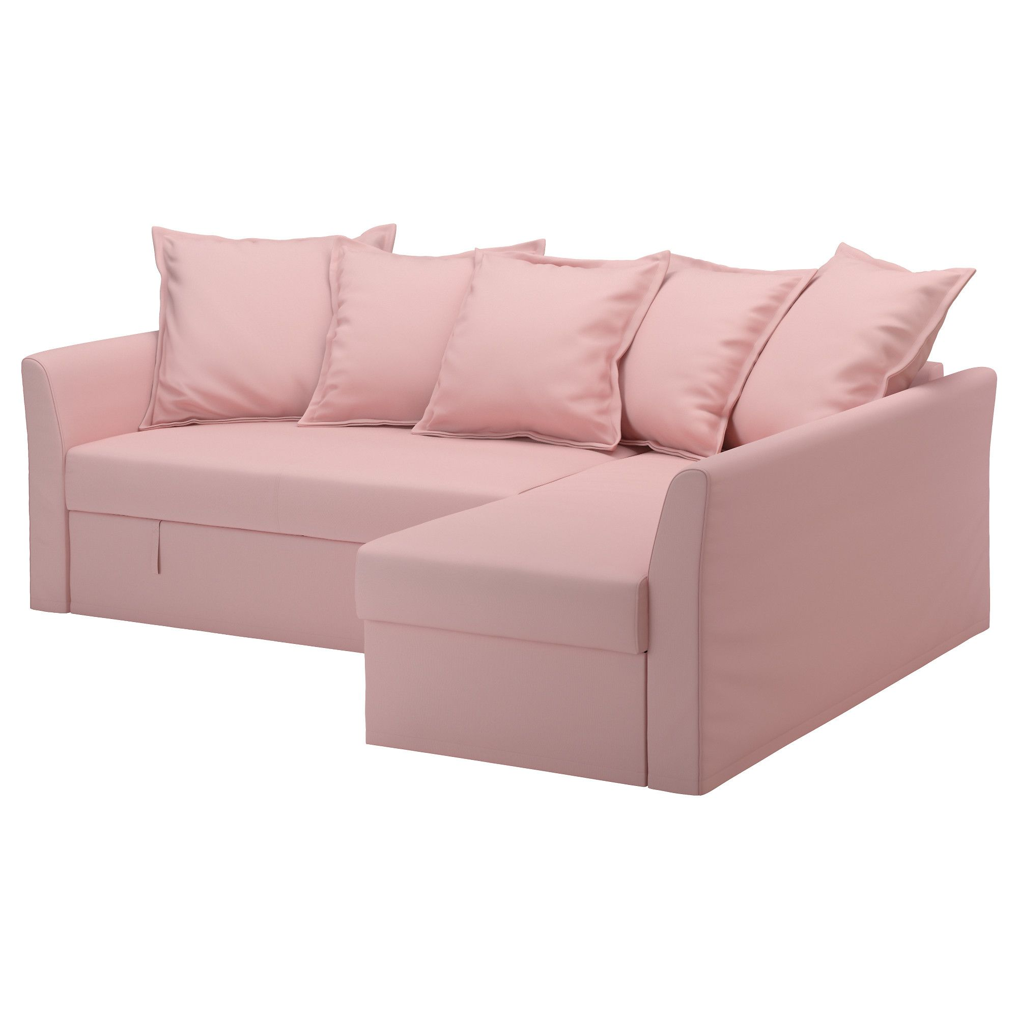 IKEA HOLMSUND Sofa bed with chaise Ransta light pink Cover