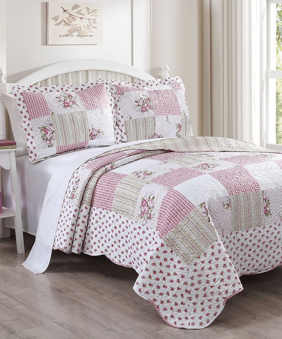 This Rose Tabitha Quilt Set By S.L. Home Fashions Is Perfect! #zulilyfinds