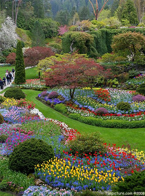 Butchart Gardens, Victoria, BC, Canada. When to the beautiful gardens with my sister Sharon after our 3 day bike ride crossing the San Juan Islands.