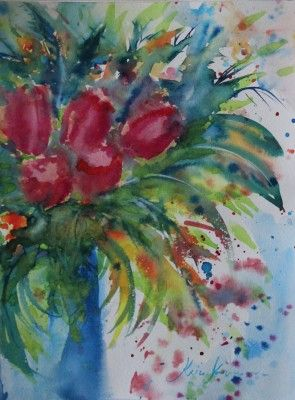 akvarell watercolor lilled floral 8 Keiu Kuresaar