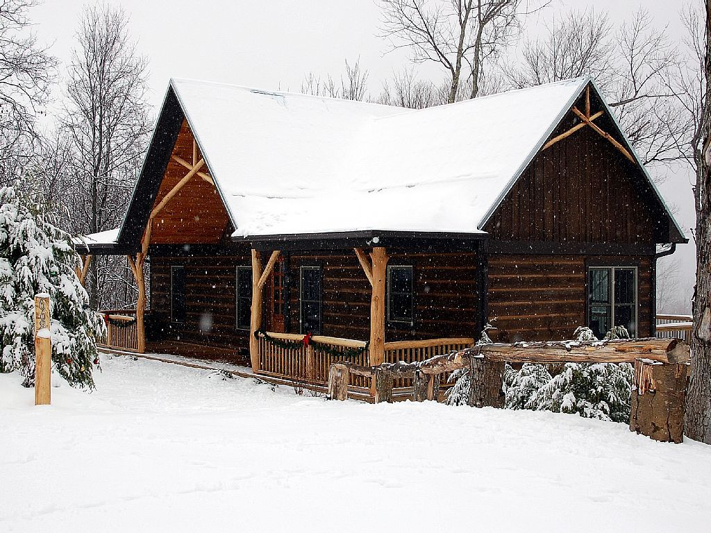Calm And Peaceful And Cozy On A Snowy Day At Lazy K Cabin