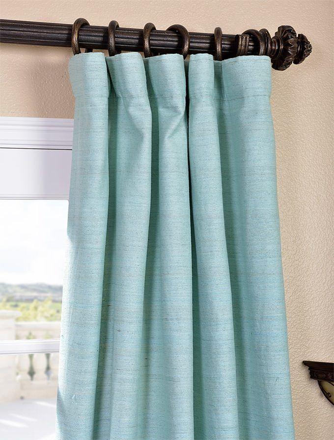 Cabo Mist Raw Silk Curtain Silk Curtains Silk Drapes Curtains