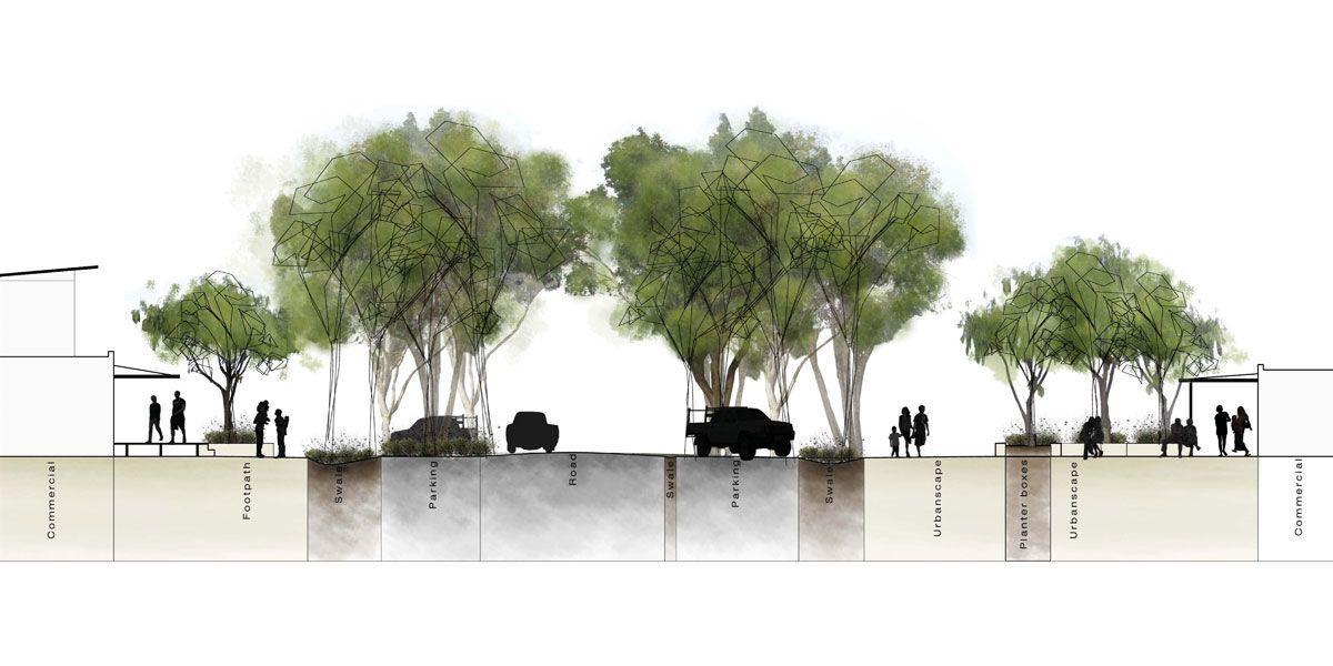 Conceptual Design Dunsborough Section Street Naturaliste