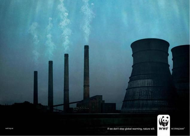 If we don't stop global warming, nature will. Posters WWF.