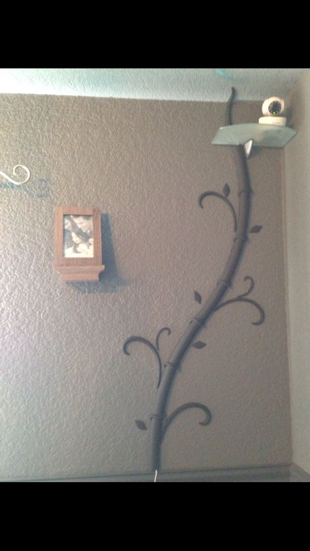 Tv Tree Cord Cover Going To Baby Camera Wall Mounted Tv