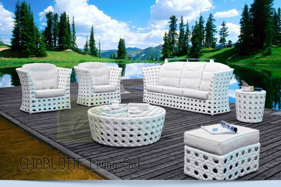 Charlotte set synthetic rattan furniture stuff to buy for Outdoor furniture jakarta