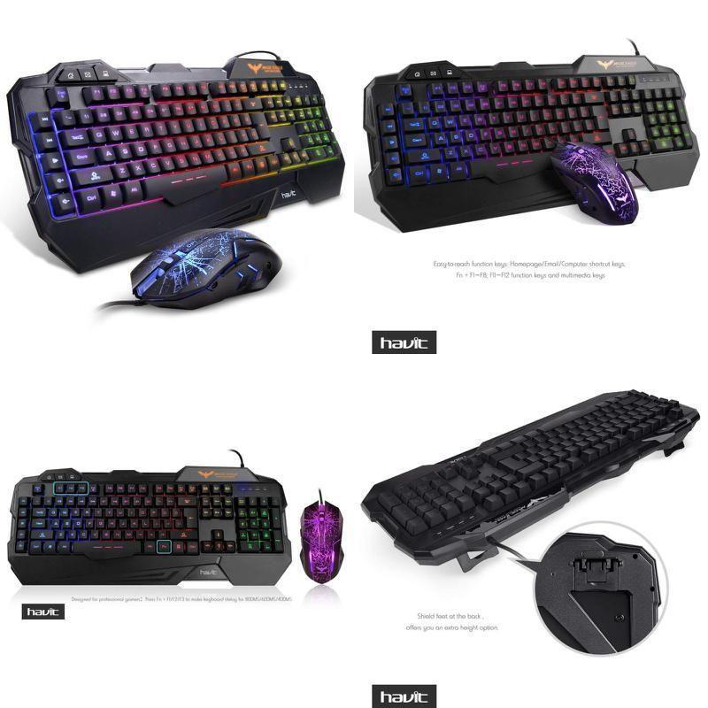 61af0dac19c HAVIT Rainbow Backlit Wired Gaming Keyboard Mouse Combo Colorful LED Effect  (eBay Link)