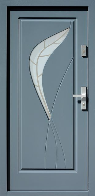 Drewniane wejściowe drzwi zewnętrzne do domu z katalogu modeli klasycznych wzór 458,1+ds1