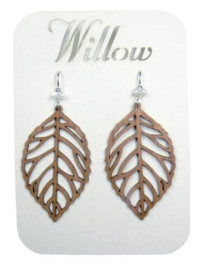 b3fe87bda Willow jewelry, out of Colorado, makes laser cut wooden earrings and  necklaces available in a wide range of styles, sizes, and solid hard woods,  ...