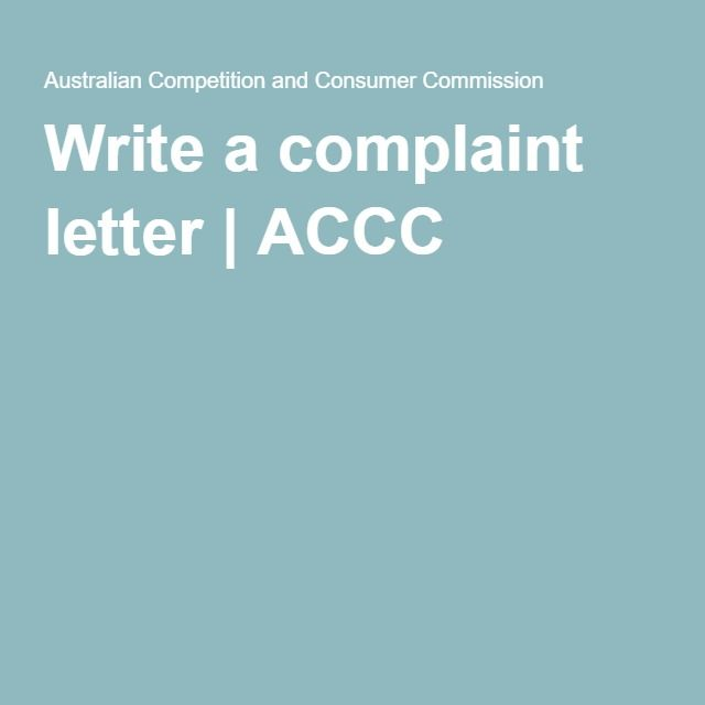 How Do I Write A Letter Of Complaint To Ba