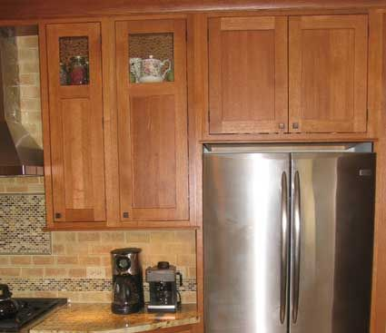 Fairfield door style in Quarter Sawn Oak finished in ...