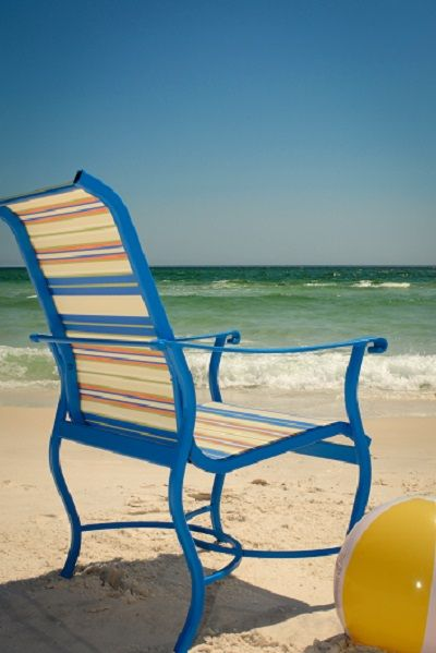 Phiferinc Phifertex Chair On Sunny Destin Florida Beach