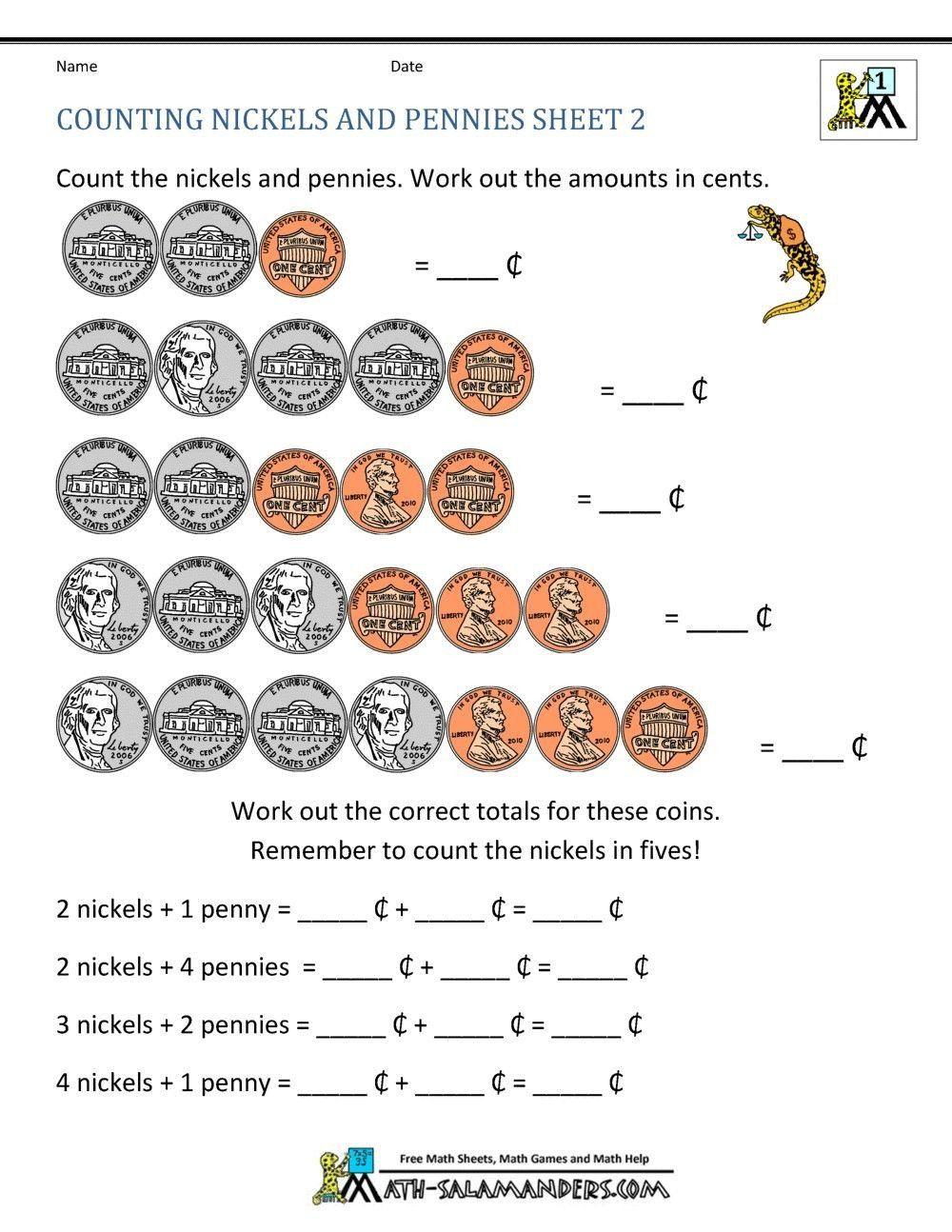 Counting Money Worksheets For Kindergarten Best Of 4 Worksheet Free Math Worksheets First Grade 1 Co Money Math Worksheets Counting Money Worksheets Money Math