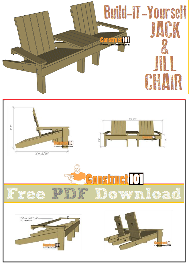 Jack And Jill Chair Plans Pdf Download Construct101 Log Furniture Plans Outdoor Furniture Plans Furniture