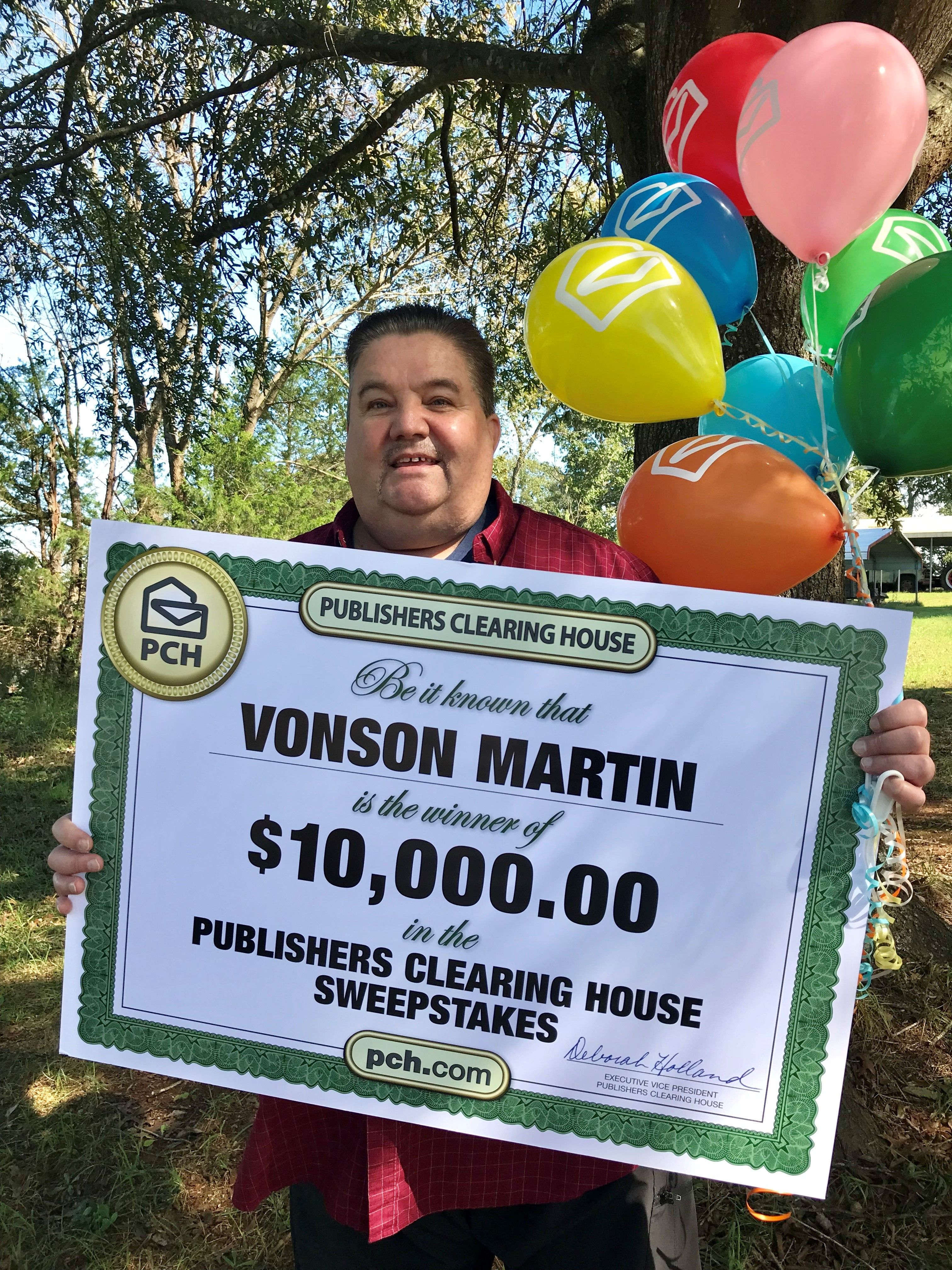 Publishers Clearing House Winners: Vonson Martin of Winston Salem