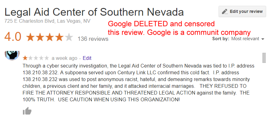Google Censorship + Websites and news articles censored by