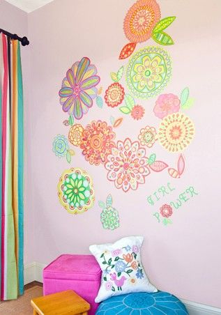 Radiant Flowers Repositionable Canvas Wall Decals From Oopsy Daisy Fine Art For Kids Kids Room Deco Wall Decals For Bedroom Childrens Decor