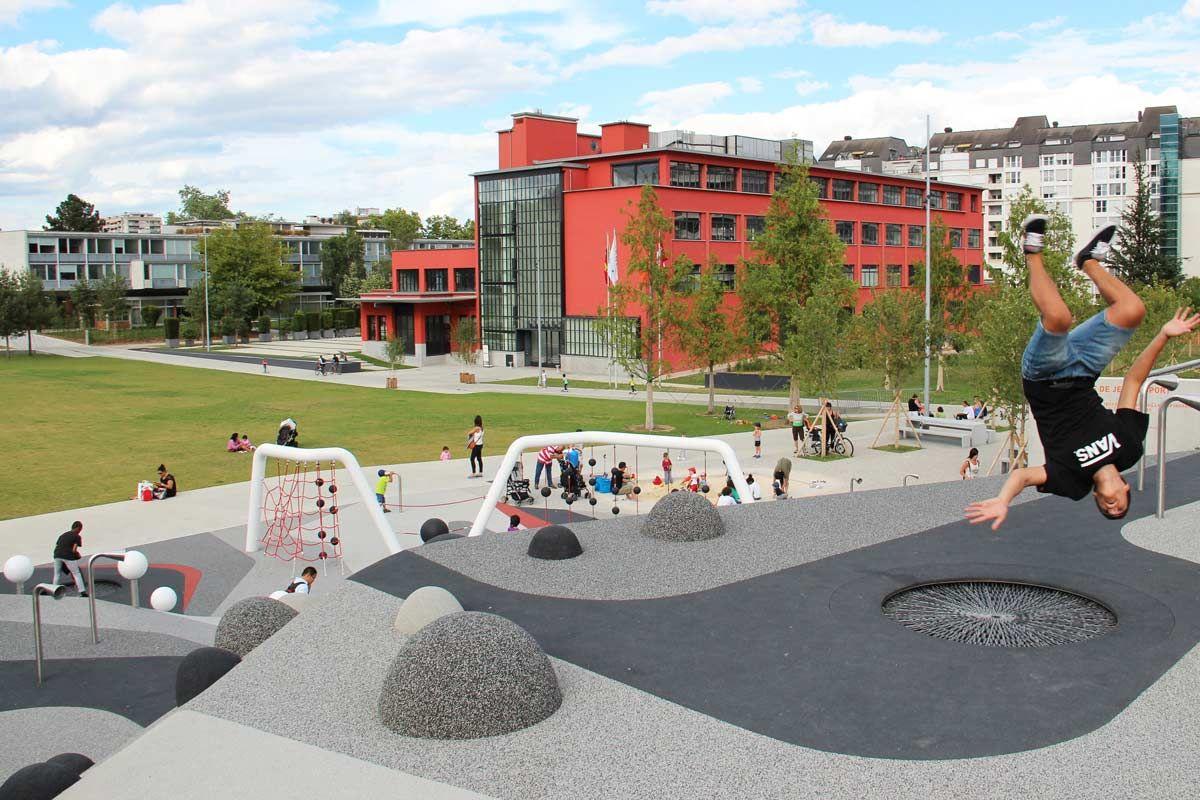 Gustave Leonard Hentsch Park Geneva Switzerland By Husler Associes Landscape Architecture Playground Design Urban Design Architecture