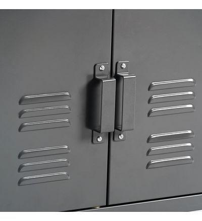 La Redoute Interieurs Low cabinet with 2 metal doors, Hiba Gri …