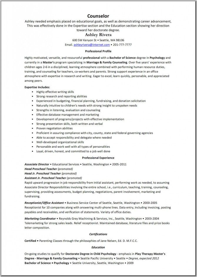 counselor resume template great templates youth sample examples