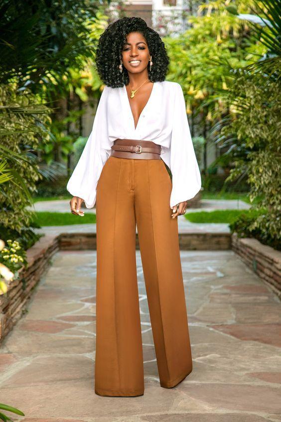 Pantalon Palazzo Comoda Y Elegante Pantalones De Moda Pantalones De Vestir Mujer Ropa De Moda
