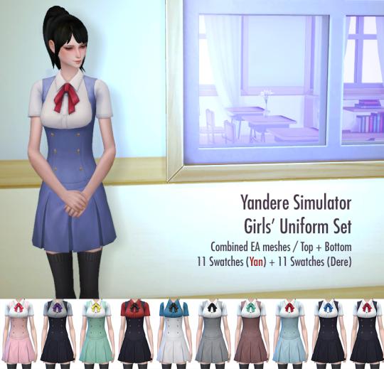 Akademi Girls Uniform Dev Ver Sims 4 Dresses Sims 4 Characters Sims 4 Anime