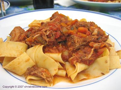 Christine Cooks: Braised Pork With Pappardelle Pasta