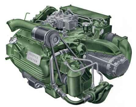 Commer TS3, 3 2 litres ( 200 CI ), 3 cylinder, 6 piston, 2