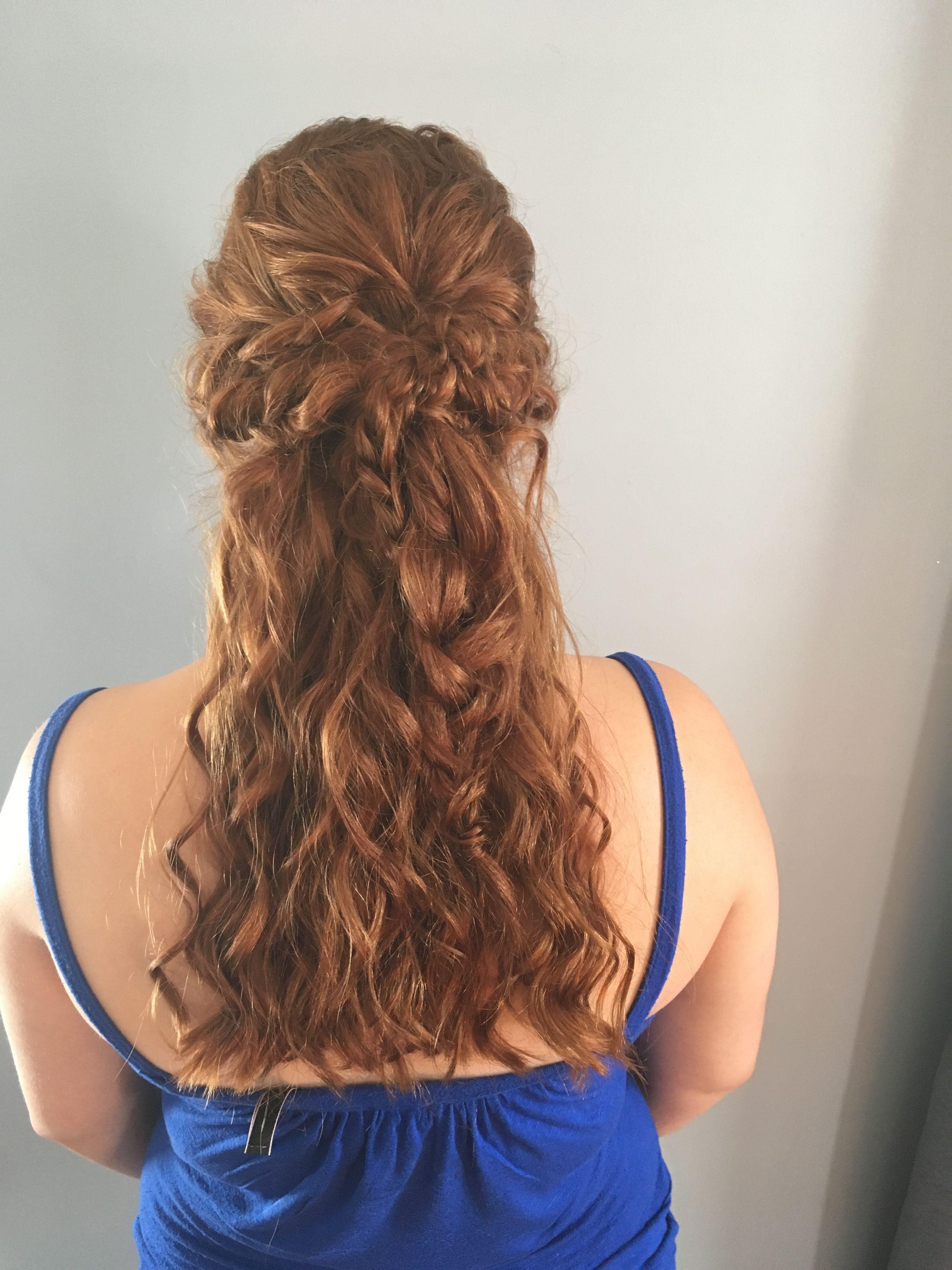 Half updo braid red hair my work pinterest half updo red hair