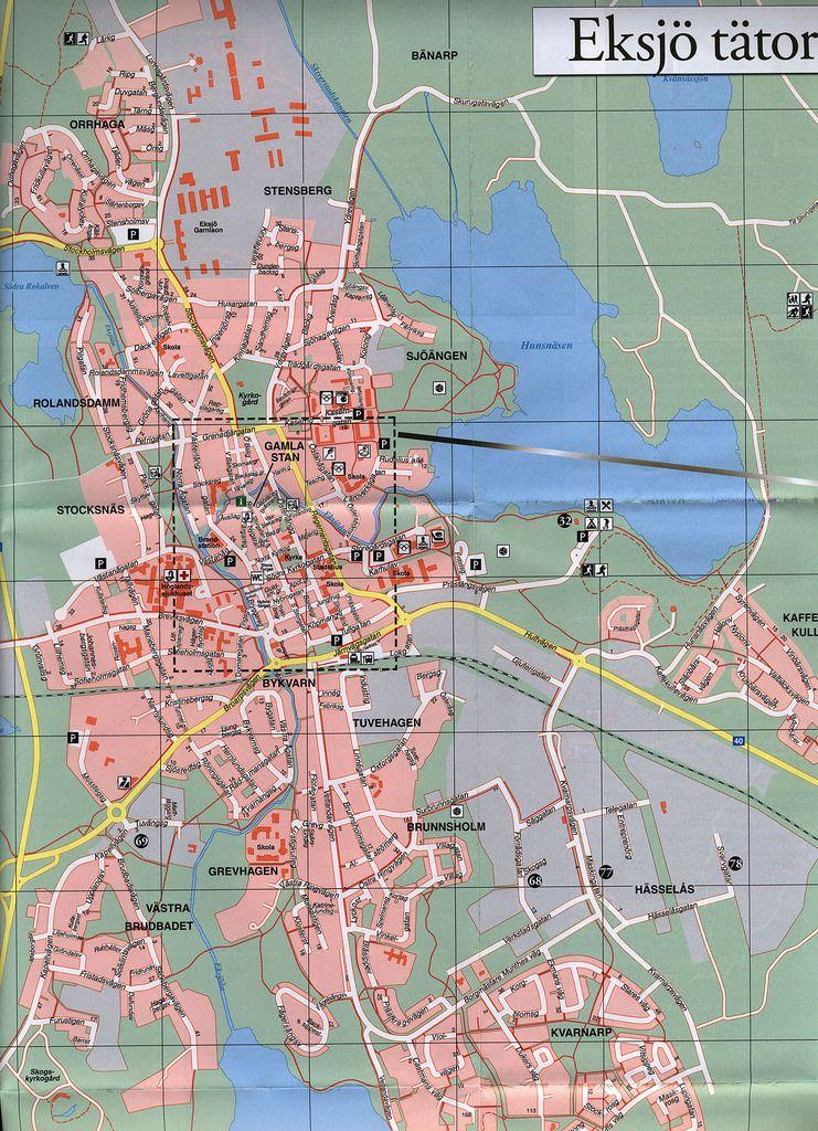 Eksj Beskskarta Map 2015 20162 karte plan Jnkping