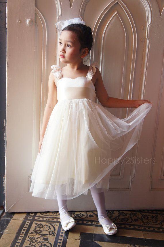 Ivory Flower Girls dress- Toddler girl dress- Baby girl dress ...