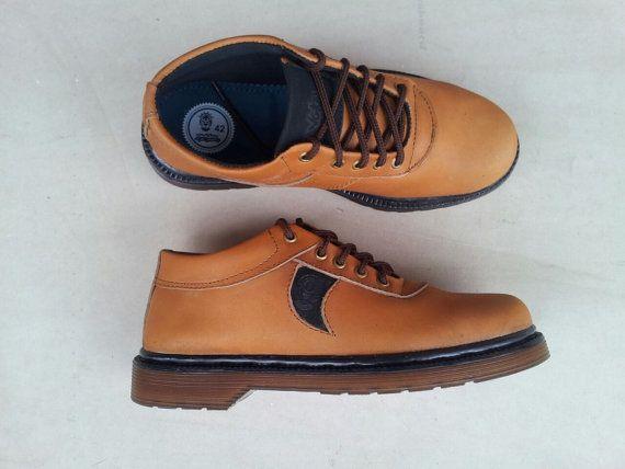 48b39b5260342 brown leather shoes handmade Rangkayo casual sneakers women men ...