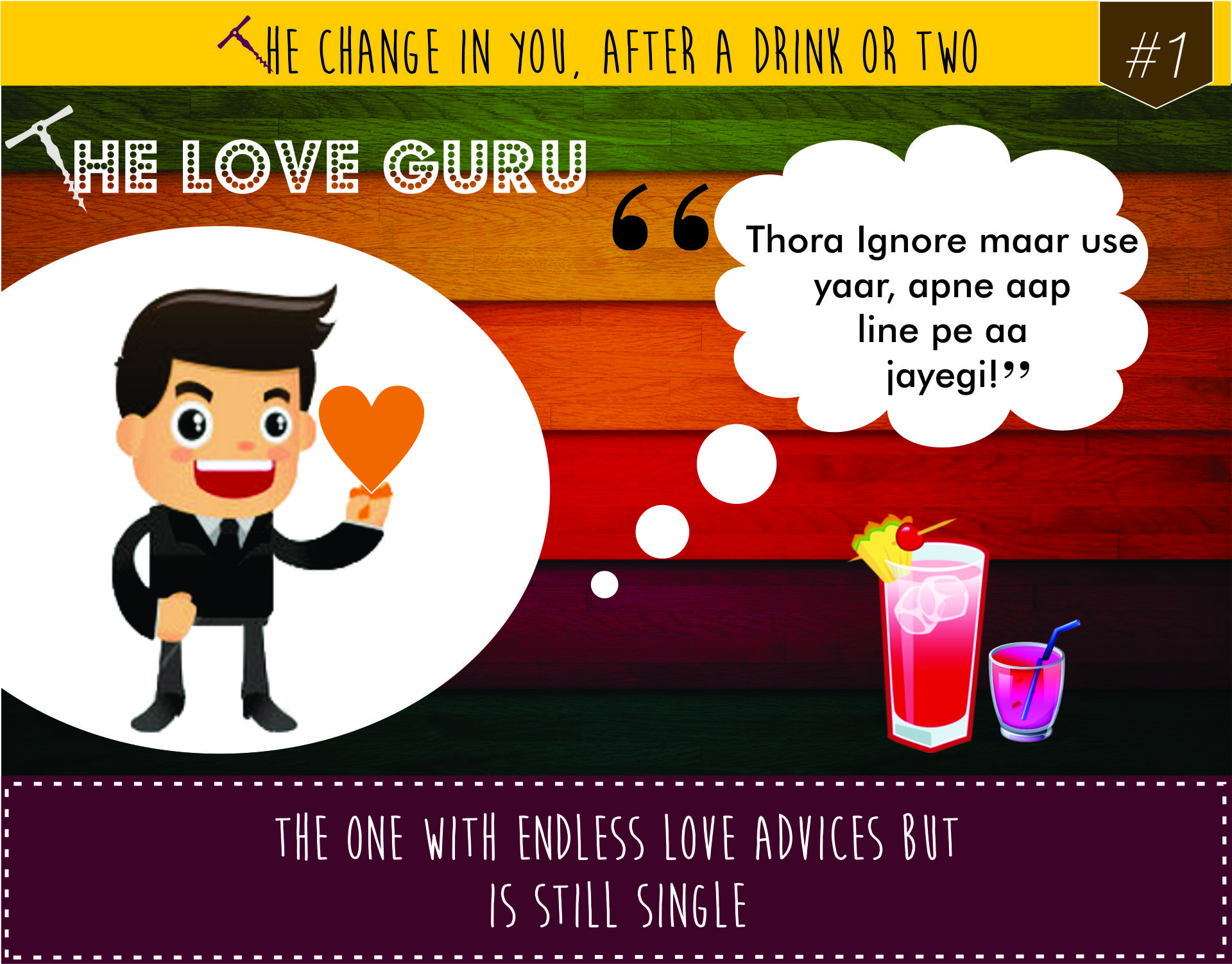The Change in You after a Drink or Two! Tipple Point brings to you the most common characters we find at parties!