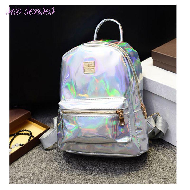 Girl Holographic Hologram Color Purse Bag Colorful Hand Bag Phone Laser Metallic